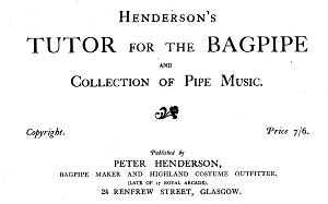 Frontpiece from Henderson's Collection