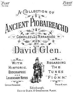 Cover from Glen's Ancient Piobaireachd