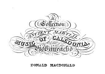 Frontpiece from Donald MacDonald's Piobaireachd