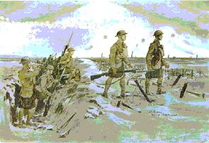 Drawing of WW1 soldiers